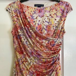 Floral Knee Length Dress Size 6